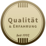 Siegel für Erfahrung und Qualität