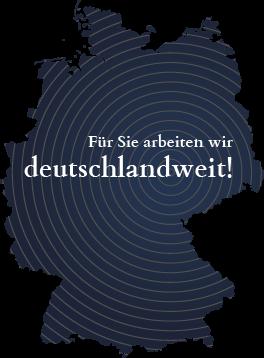 Stilisierte Deutschlandkarte